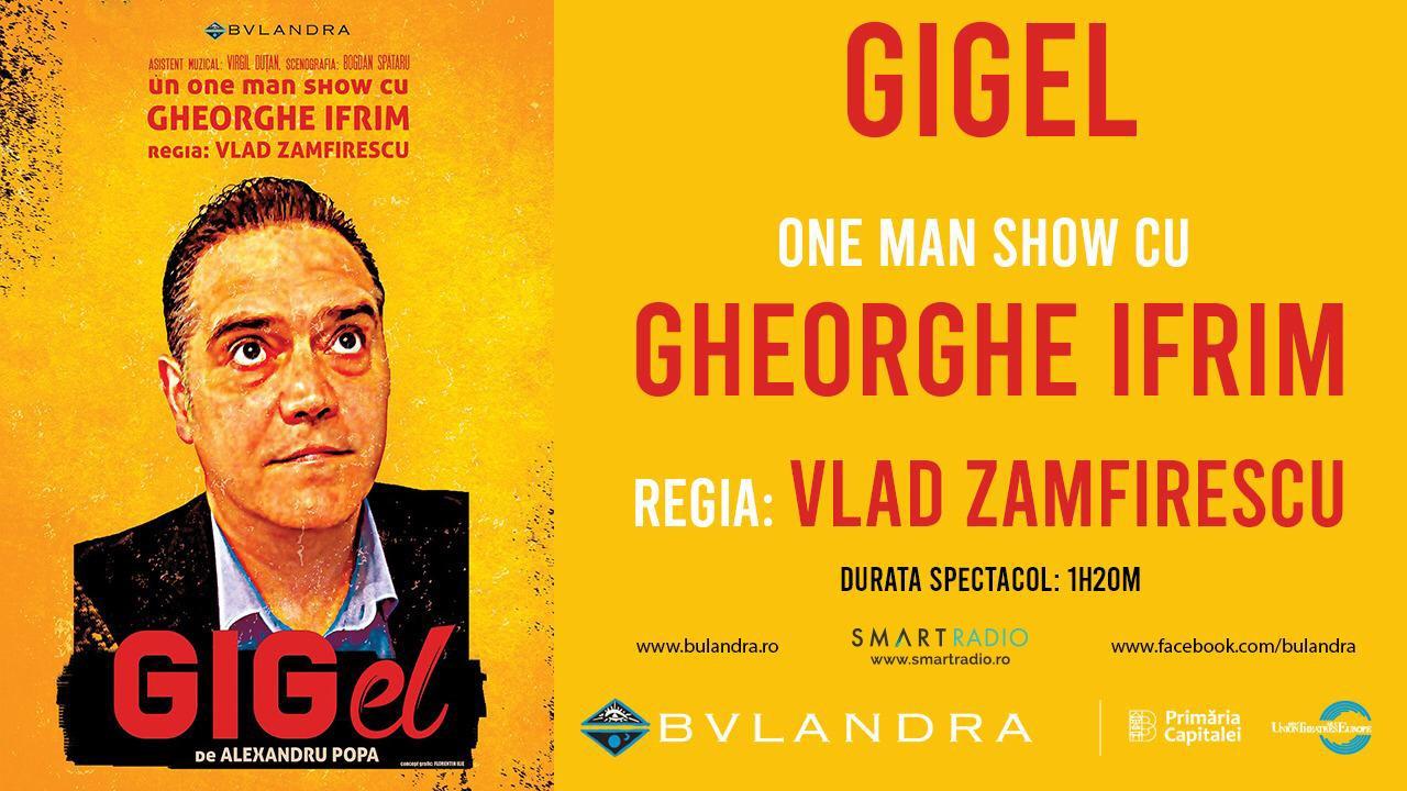 """SmartRadio.ro transmite spectacolul """"Gigel"""" de la Teatrul Bulandra, sâmbătă de la ora 19:00"""