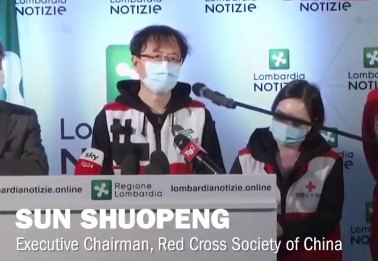 """Șeful delegației chineze de la Crucea Roșie în Italia: """"Nu înțeleg ce e în mintea voastră"""""""