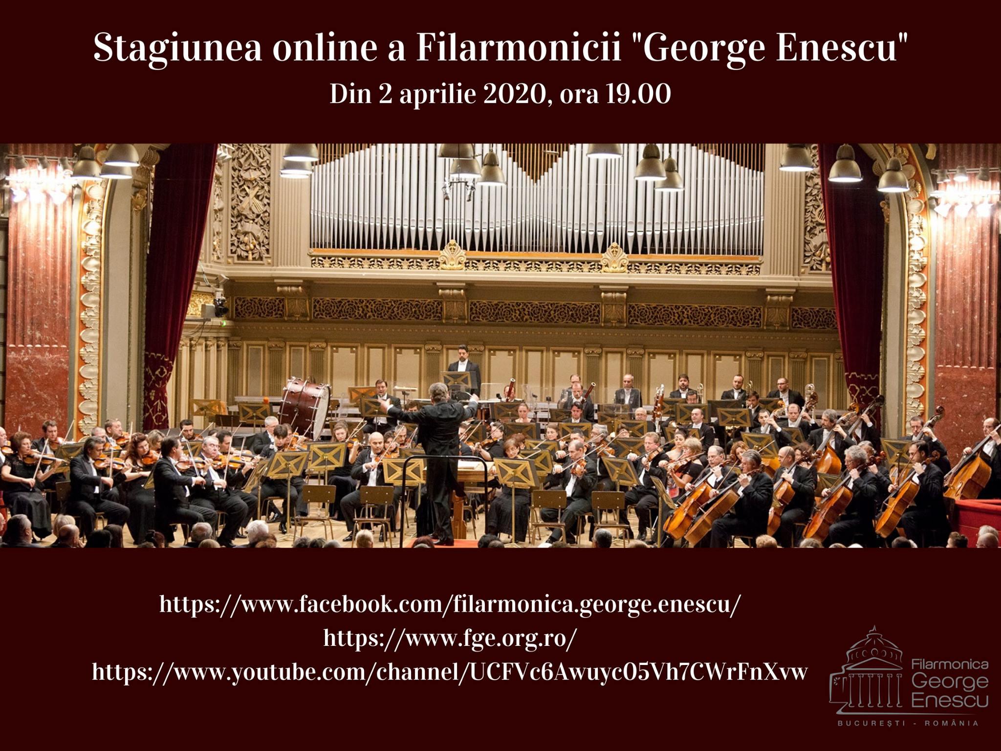 """Filarmonica """"George Enescu"""" înființează astăzi propriul canal de YouTube"""