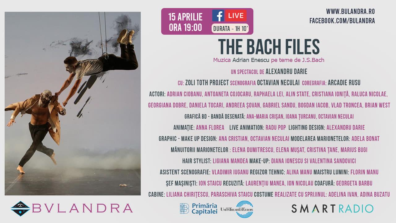 Teatru online: 'The Bach Files', spectacol pe muzica lui Adrian Enescu, regia lui Alexandru Darie