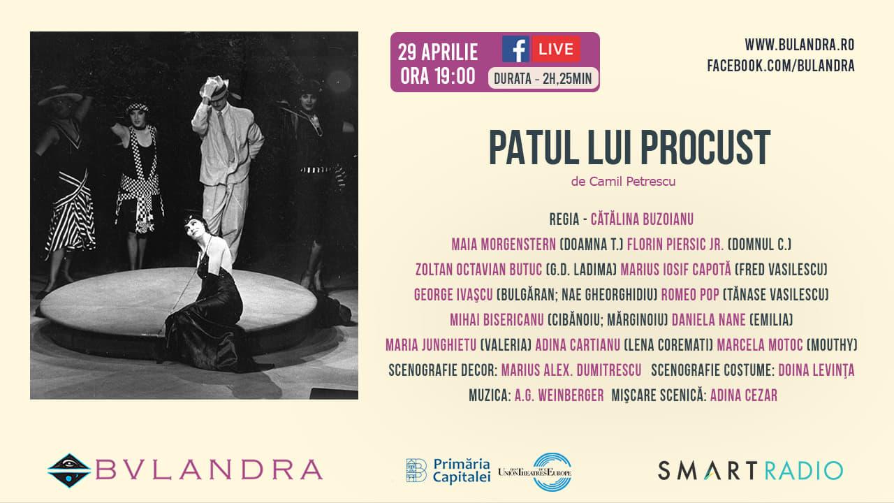 Teatru online: în seara asta, stai pe 'Patul lui Procust', de la ora 19:00