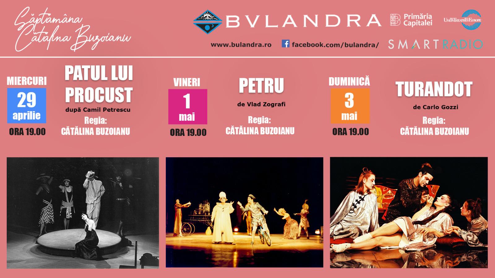 Bulandra continuă a doua lună de teatru online pe Smart Radio
