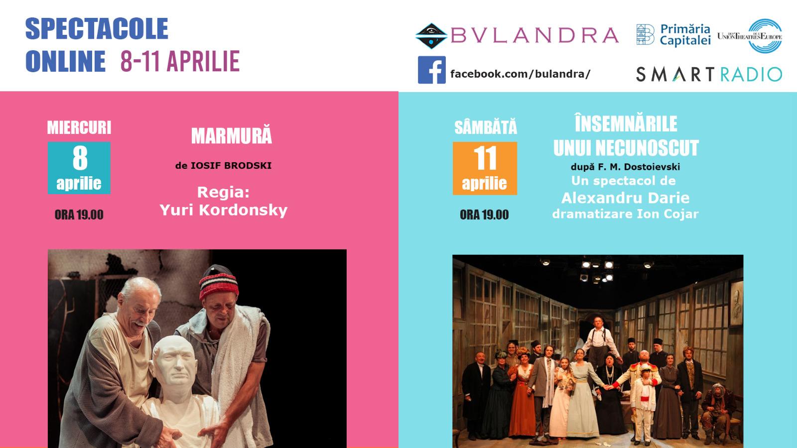 Săptămâna asta, două noi spectacole de la Bulandra, online pe SmartRadio.ro
