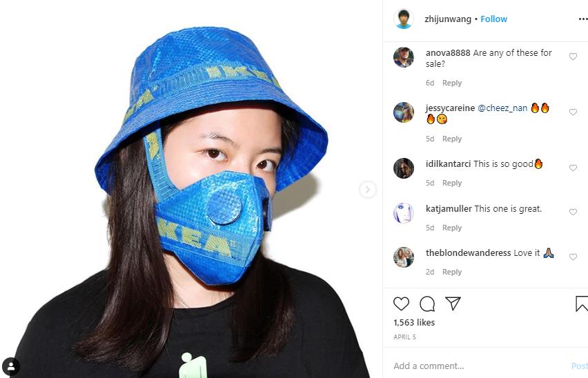 Idei de marketing pe timp de pandemie – Designerul chinez Zhijun Wang confecționează măști de protecție din produse celebre