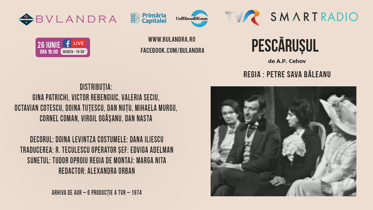"""Victor Rebengiuc și Gina Patrichi, online în seara asta în """"PESCĂRUȘUL"""", de Cehov"""