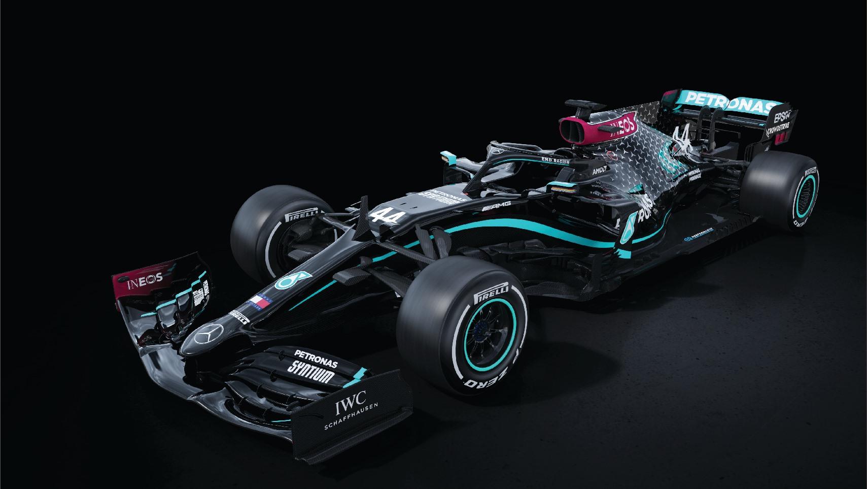 """Lupta împotriva rasismului: monopostul de Formula 1 Mercedes va fi """"de culoare"""" sezonul ăsta"""