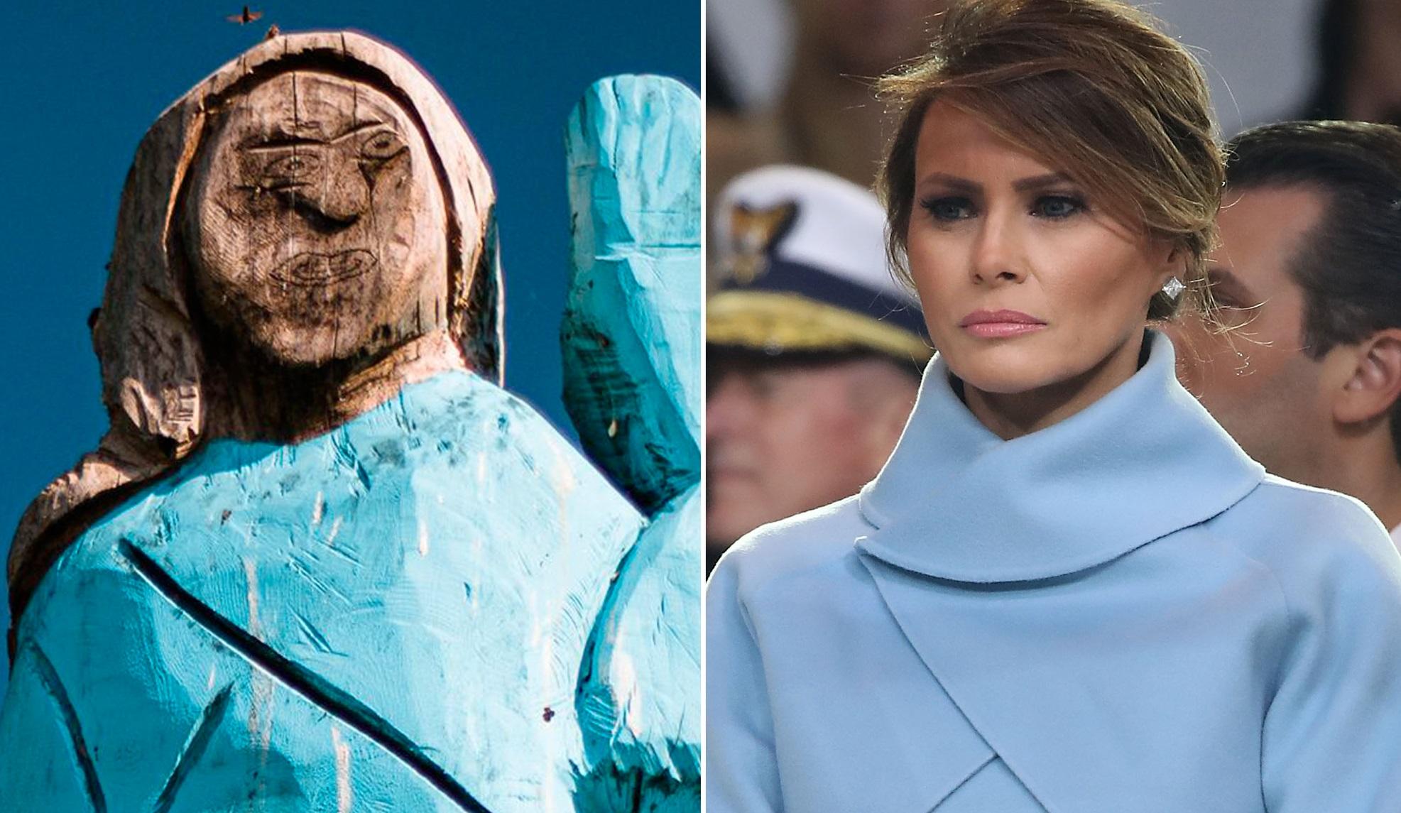 Slovenia: Statuia Melaniei Trump a fost arsă