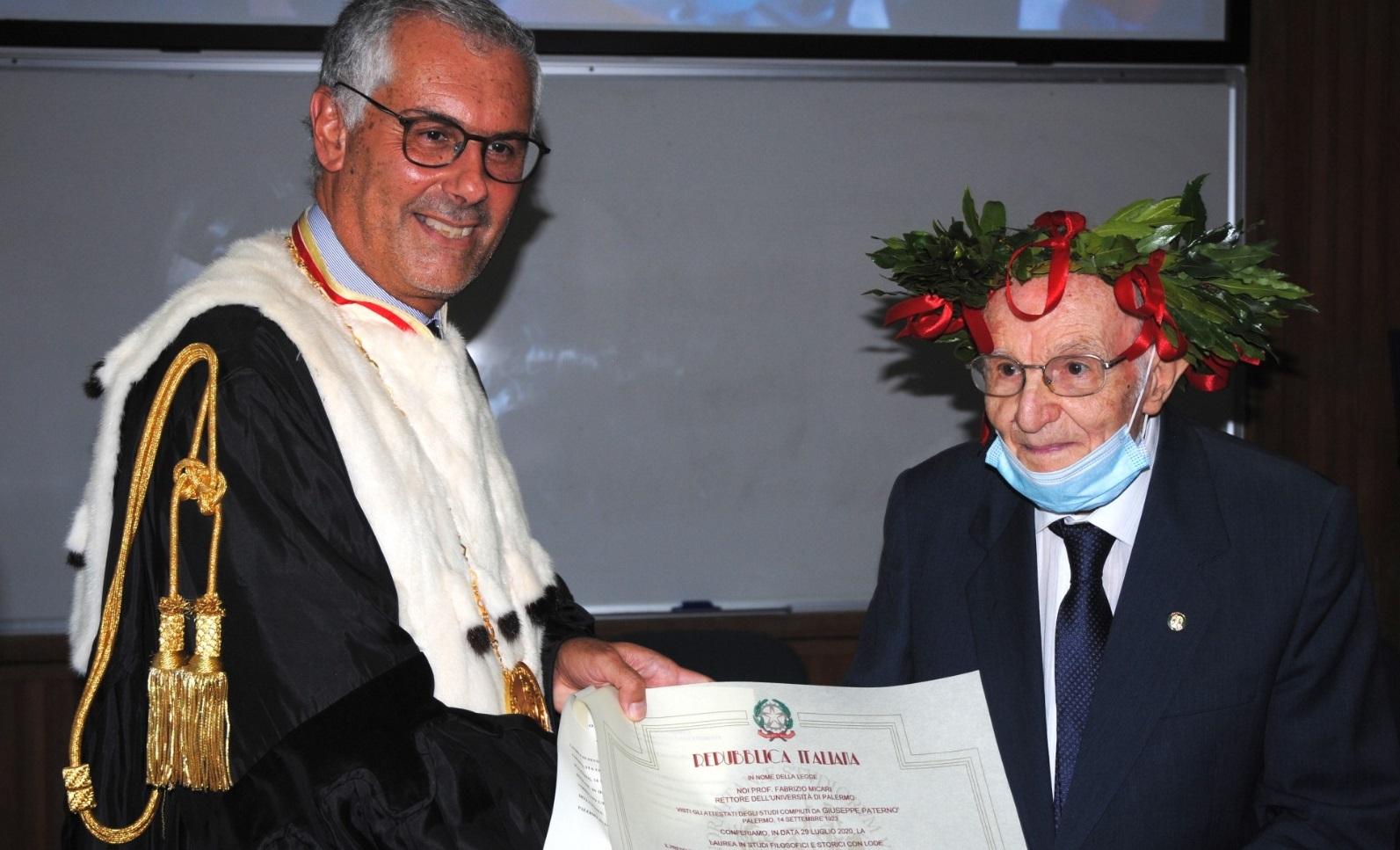 """""""Asta este, acum ori niciodată"""". Italianul care a terminat facultatea la 96 de ani, șef de promoție"""