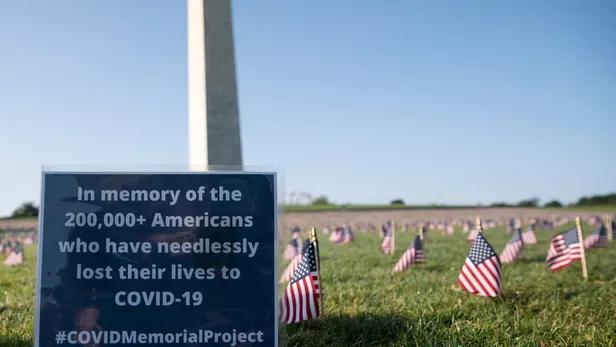 SUA| Covid-19 va fi a treia cea mai importantă cauză a deceselor în acest an. Pragul de 200.000 de victime a fost depășit