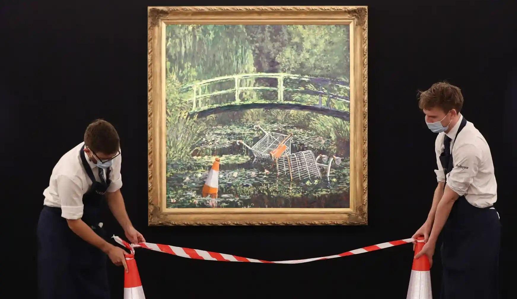 Banksy, show me the Monet! 5 milioane de lire pentru opera artistului stradal