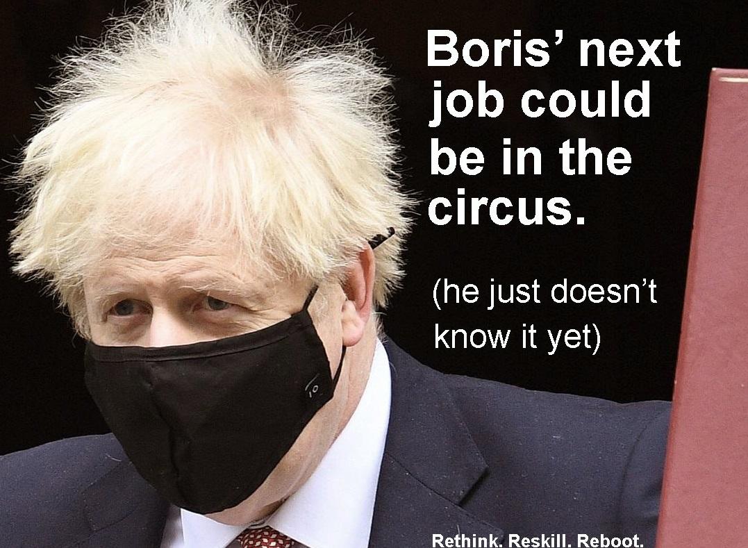 """Campania de reorientare profesională provoacă furia artiștilor. """"Următorul job al lui Boris Johnson poate fi la circ"""""""