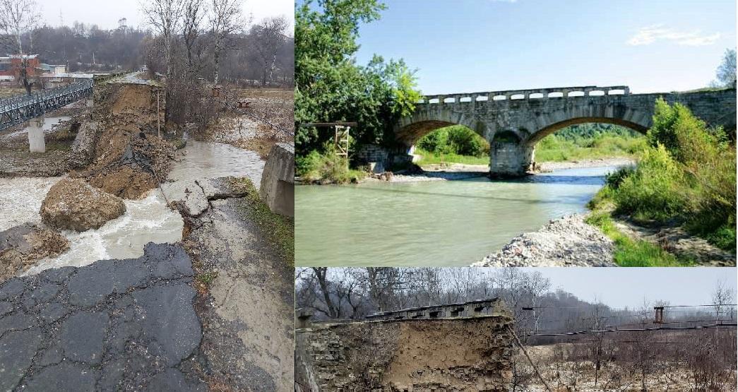 Unul din cele mai vechi poduri din țară, construit pe vremea lui Cuza, dărâmat de nepăsare