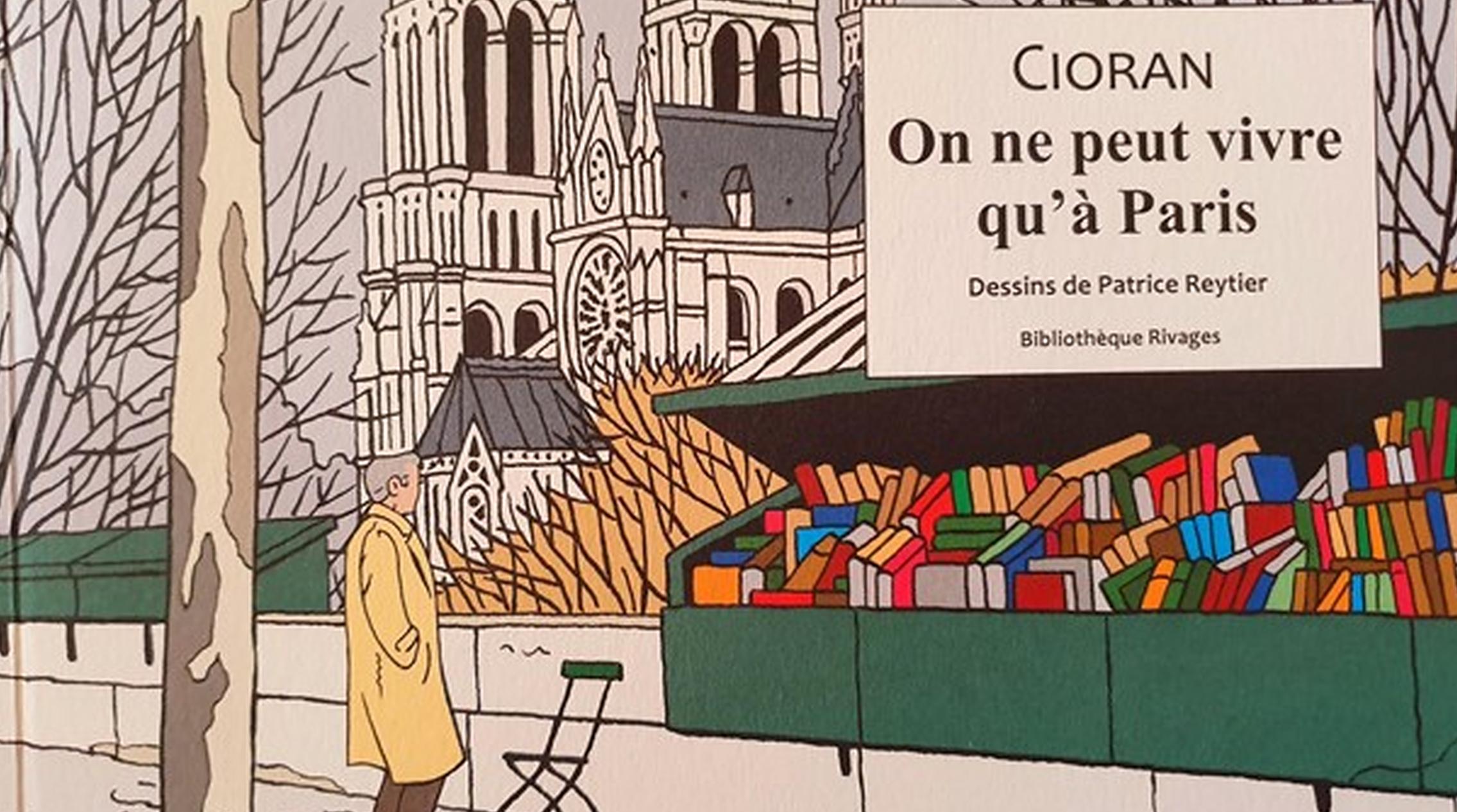 """Ilustratorul Patrice Reytier lansează o serie de benzi desenate cu Emil Cioran. """"Paris, orașul ideal pentru a-ți rata viața"""""""