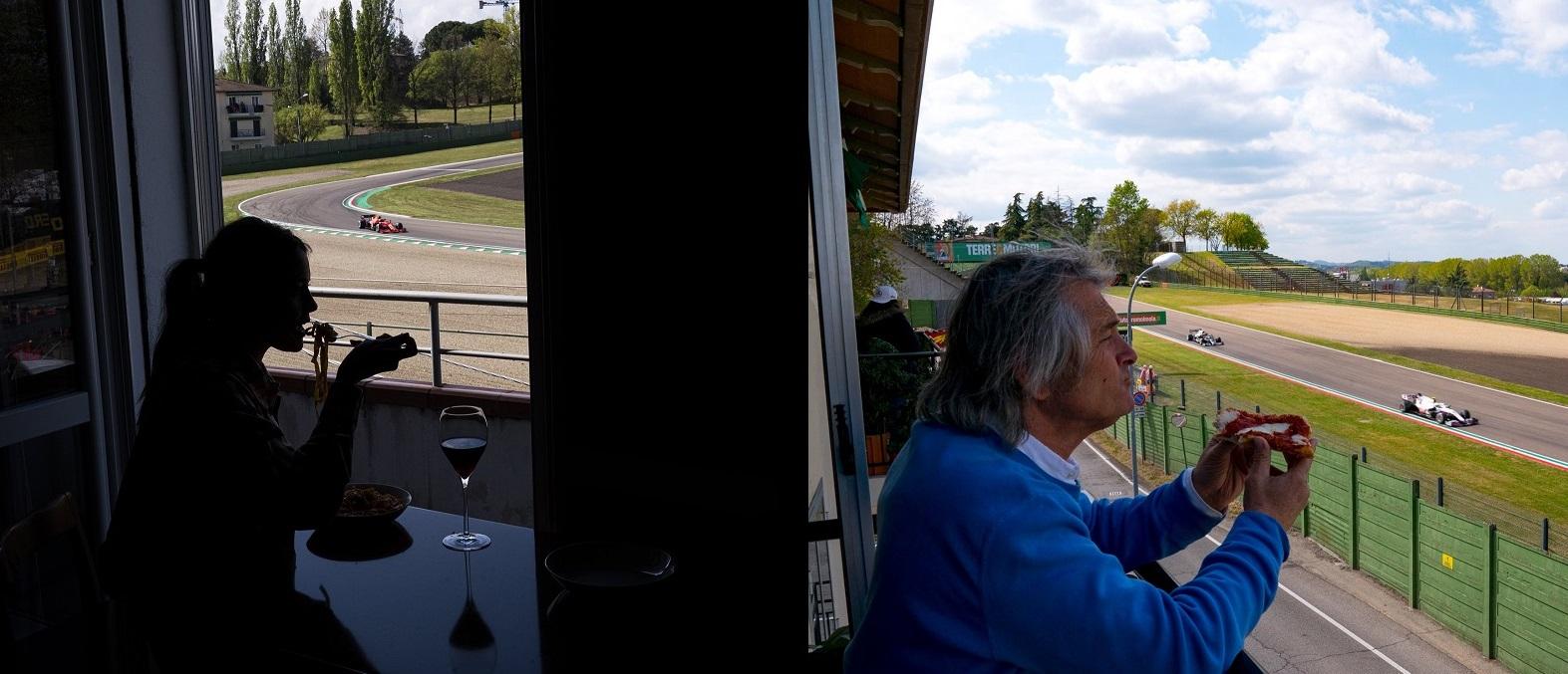 FOTO: Formula 1 s-a întors la Imola în cel mai italienesc mod posibil: cu pizza și paste