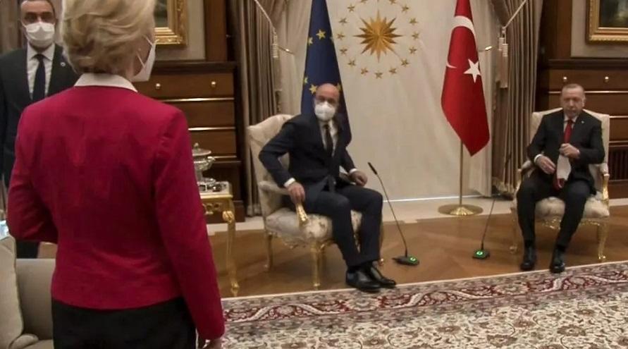 Erdogan nu i-a oferit un scaun Ursulei von der Leyen, la o întâlnire în care se discutau drepturile femeilor