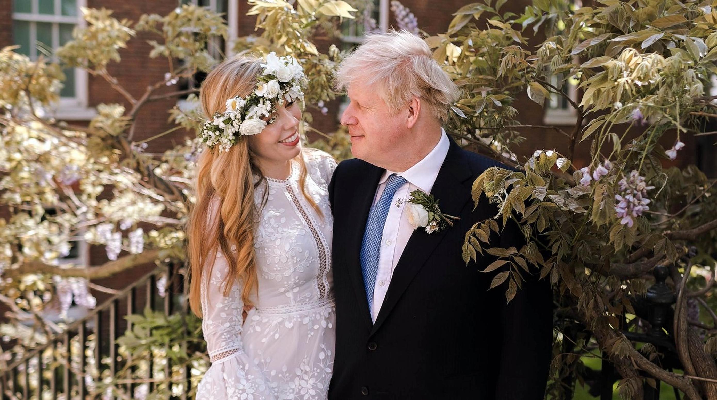 Boris Johnson publică prima fotografie de la nunta cu Carrie Symonds