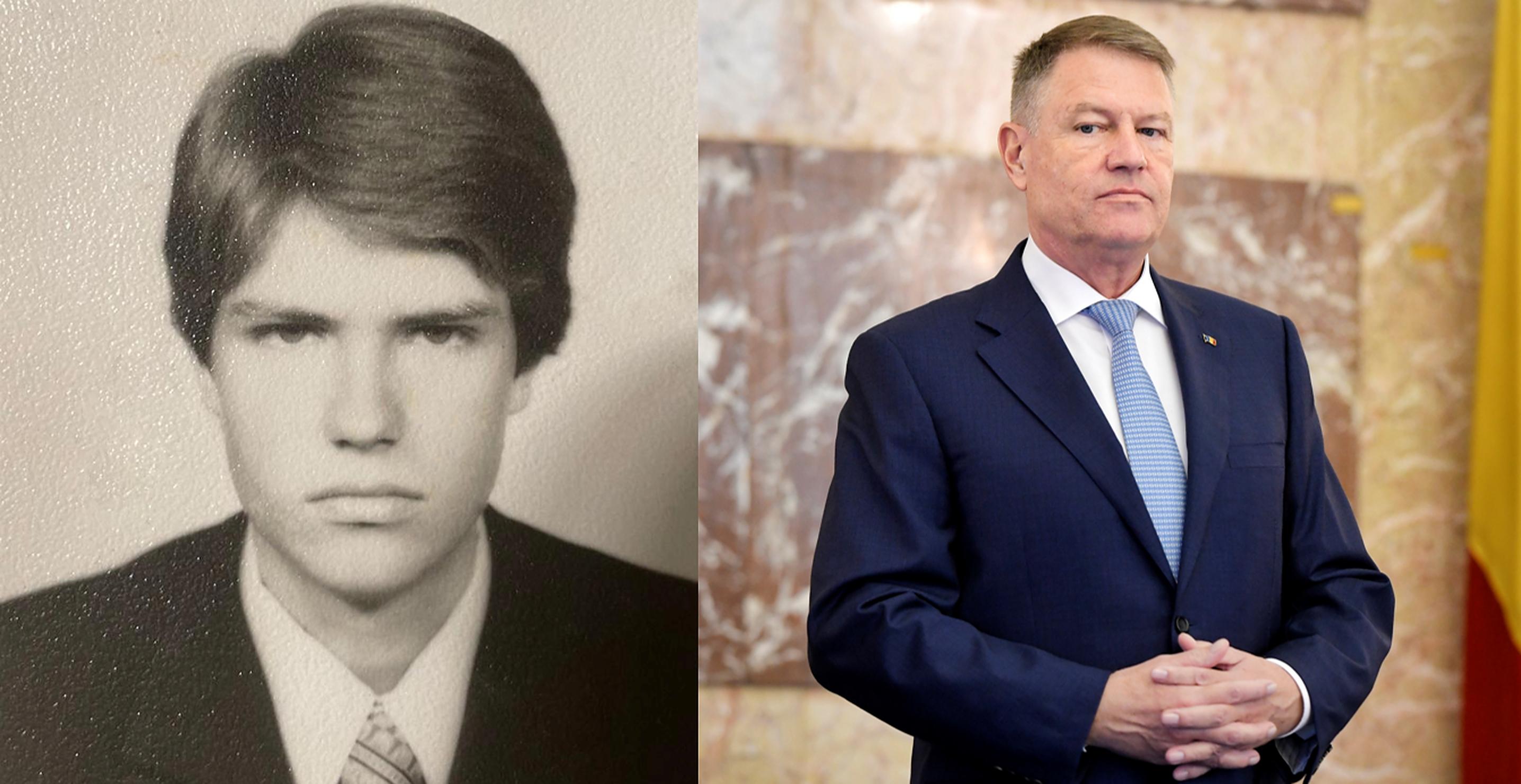 Cum arăta Klaus Iohannis la 17 ani. Mesajul postat de Ziua Copilului