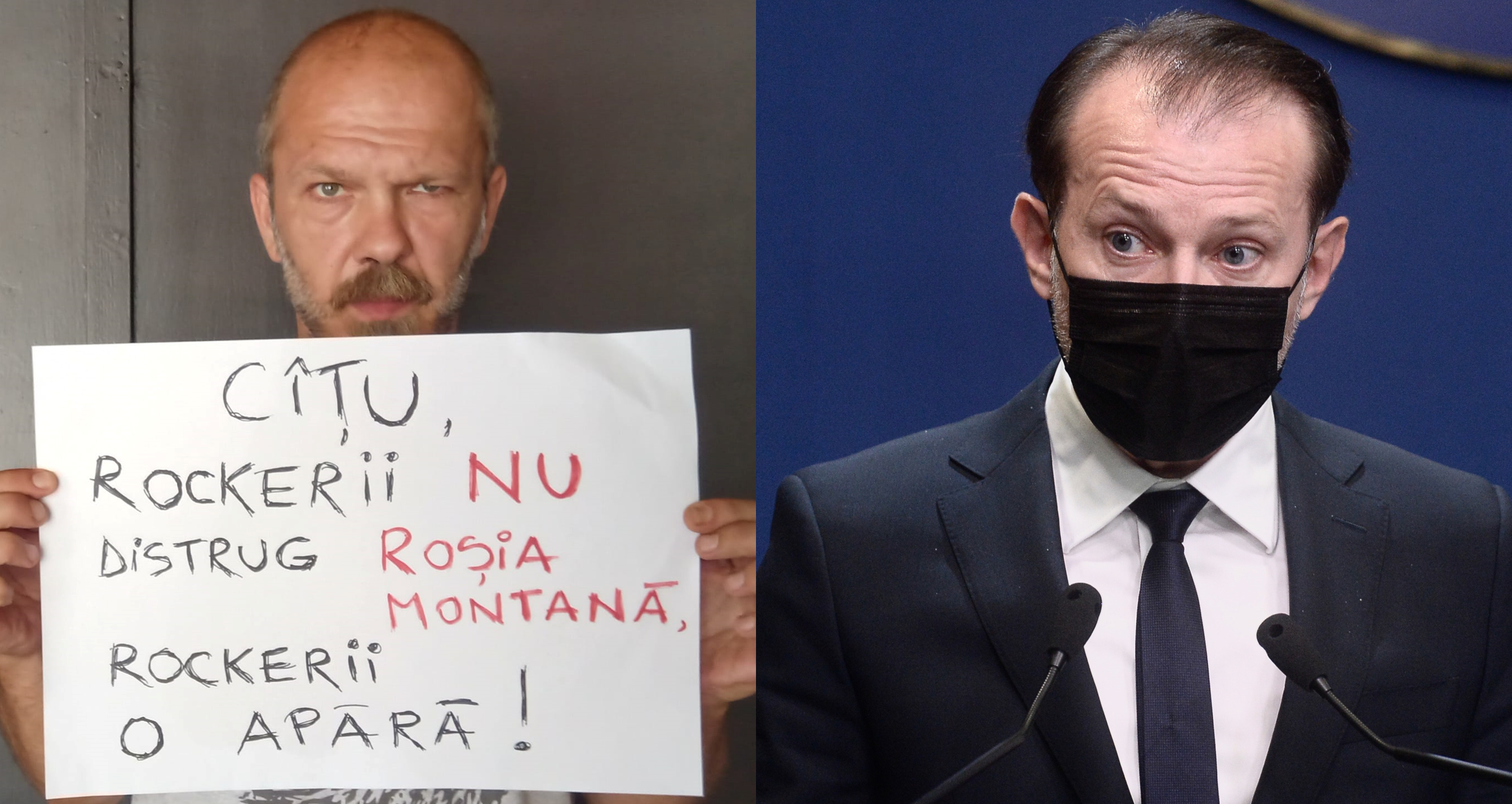 """Rockerii îl atacă pe Cîțu pe tema exploatării miniere de la Roșia Montană. """"Parvenit deghizat în băiat de gașcă. Un vinil și un tricou nu te fac rocker"""""""