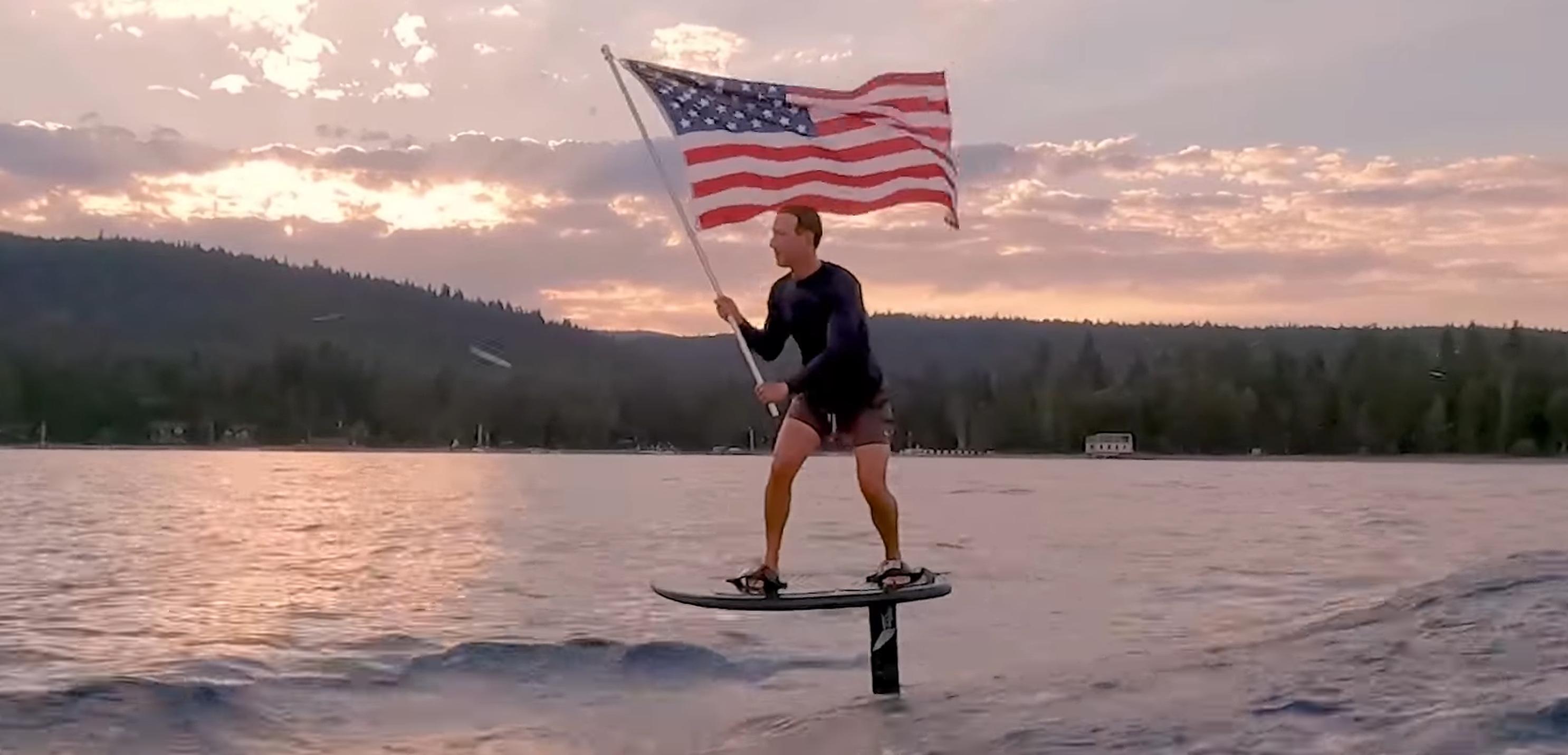 VIDEO  Mark Zuckerberg sărbătorește Ziua Americii pe o placă electrică de surf în valoare de 12.000 de dolari